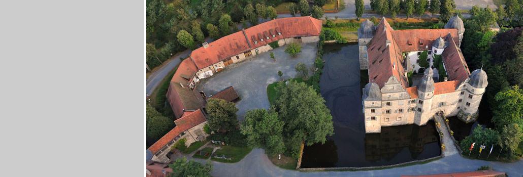 Luftaufnahme des Wasserschlosses