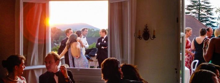 Sommerfest auf Schloss Mitwitz - Salon und Balkon